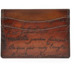 9618506ca921 Berluti Scritto Leather Card Case ( 360) ❤ liked on Polyvore featuring  men s fashion