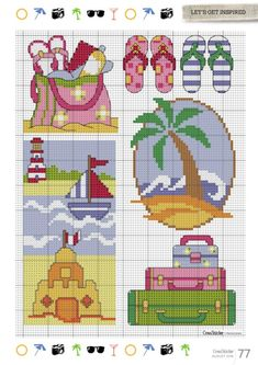 Cross stitcher 2016 08 by Tanaba - issuu Cross Stitch Sea, Free Cross Stitch Charts, Cross Stitch Boards, Cross Stitch Needles, Cute Cross Stitch, Cross Stitch Designs, Cross Stitch Patterns, Cross Stitching, Cross Stitch Embroidery