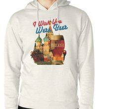 I Wish You Were Beer – Moscow  (Храм Василия Блаженного, Москва) – Hoodie (Pullover) designed by Andras Balogh