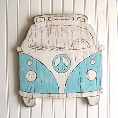 VW Bus Sign Beach Bus Summer Peace Sign by SlippinSouthern on Etsy, $68.00