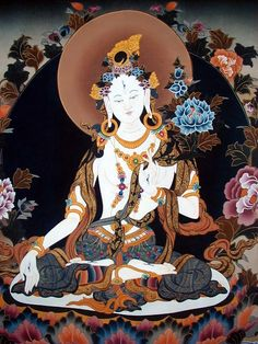 Guanyin is the bodhisattva associated with compassion as venerated by East Asian Buddhists, usually as a female.