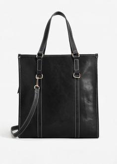 Contrast seam shopper bag | MANGO