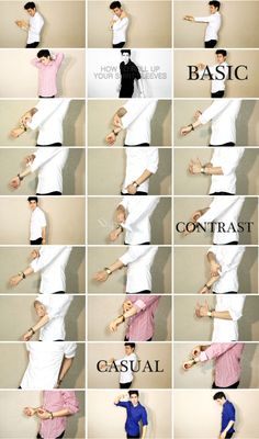 HOW TO ROLL UP YOUR SHIRT SLEEVES