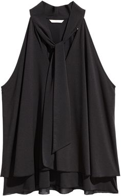 H&M - H&M+ Top with Tie - Black - Ladies