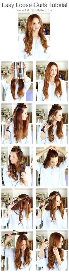 Easy Loose Curls Hair Tutorial | www.LittleJStyle.com #hair #hairtutorial