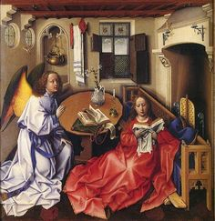 ' Annunciation' by Robert Campin (AD c.1375-1444)