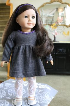 American Girl Jersey Babydoll and lace leggings par LoveEllieBean, $25.00