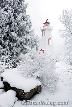 #Lighthouse in the snow, Tobermory http://dennisharper.lnf.com/