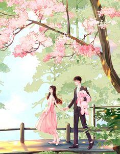 Cute Couple Art, Anime Love Couple, Cute Couple Pictures, Cute Couples, Anime Romans, Cute Couple Wallpaper, Lovely Girl Image, Cute Love Cartoons, Couple Drawings