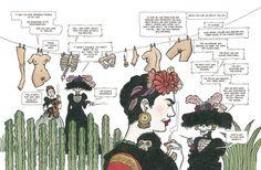 A vida de Frida Kahlo em quadrinhos