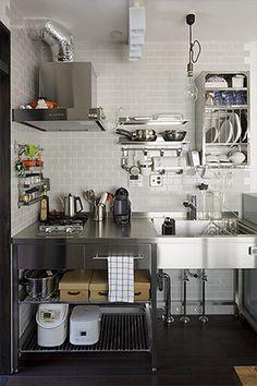 部位別リフォーム事例>オールステンレスの造作キッチン|東京ガスリモデリングのリフォーム