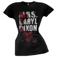 Walking Dead - Mrs. Daryl Dixon Juniors T-Shirt | OldGlory.com
