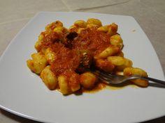 Gnocchi with local handmade salsiccia (sausage)