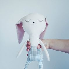 Benito the bunny handmade doll softie easter gift by lelelerele