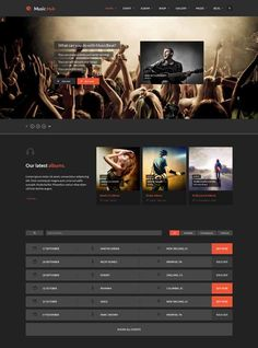 Music Site Templates. 4258 music website templates dreamtemplate ...