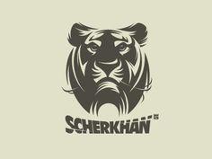 Logo Design: Tiger This design uses good negative space.