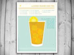 LONG ISLAND ICED TEA Art Print. Etsy.