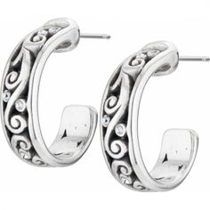 Madrid Heart Hoop Earrings available at #BrightonCollectibles