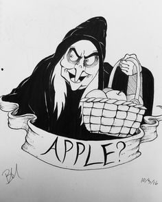 Inktober Day 3 favorite villain. Of course I thought of the classic witch from Snow White