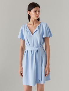Rochie cu mâneci cloș, MOHITO, XO230-50X Shirt Dress, Sleeves, Shirts, Dresses, Fashion, Vestidos, Moda, Shirtdress, Fashion Styles