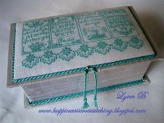 ! Happiness is cross stitching !: Another box finish and accessories to match
