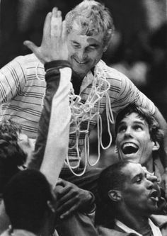 1984 ( AP File photo / July 26, 2012 )  Bob Knight, coach of the USA basketball team, celebrates after the team won the gold medal. More vintage Olympic photos: http://www.redeyechicago.com/sports/ct-red-vintage-olympics-photo-gallery,0,7125527.photogallery