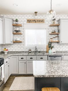 Enjoy every moment sign   Etsy Modern Farmhouse Kitchens, Farmhouse Kitchen Decor, Home Decor Kitchen, Home Kitchens, Antique Kitchen Decor, Remodeled Kitchens, Rustic Chic Kitchen, Kitchen Window Decor, Renovated Kitchen