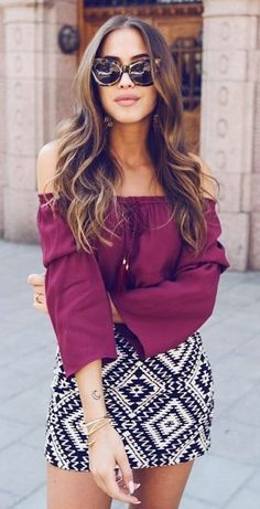 Those sunnies are amazing! This is a colorful and simple boho chic outfit idea ღ | Awesome fashion clothes for stylish women from Zefinka.