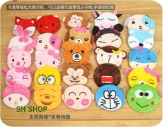 Free shipping creative stationery cartoon cute animal fancy zipper small zero coin purse receive bag gift 20 pcs a lot