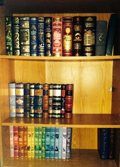 Beautiful Barnes and noble leather bound classics books ( part of my prized collection )
