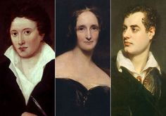 Percy Shelley, Mary Shelley, Lord Byron