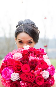 Ombré Valentine Inspiration with Fabulous Florals - www.theperfectpalette.com - Joanna Moss Photography, Umbrella Events, Vivio Flowers