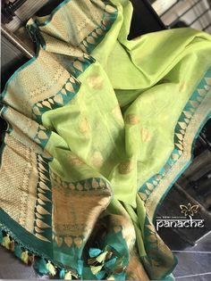 Panache - The Desi Creations Pink Saree Silk, Kanjivaram Sarees Silk, Indian Silk Sarees, Soft Silk Sarees, Saree Accessories, Cotton Saree Blouse Designs, Silk Sarees With Price, Silk Sarees Online Shopping, Stylish Sarees