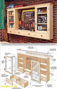 50+ Woodworking Shop Cabinet Plans - Best Home Furniture Check more at http://glennbeckreport.com/woodworking-shop-cabinet-plans/ #furnitureplans #woodworkingshop #homewoodworkingshop