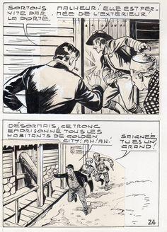 MIKI LE RANGER LES TRAPPEURS  PLANCHE  MONTAGE NEVADA 1959 PIECE UNIQUE PAGE 24 fr.picclick.com