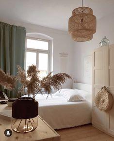 modern neutral master bedroom decor with rattan chandelier, scandinavian bedroom decor, boho bedroom ideas Bedroom Green, Home Bedroom, Bedroom Decor, Modern Bedroom, Bedroom Ideas, Ikea Bedroom, Bedroom Lighting, Bedroom Inspo, Bedrooms