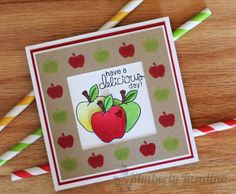 Apple card by Kimberly Rendino - Newton's Nook Designs Guest Designer - Apple Delights stamp set