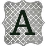 Free Printable Letters for Banners-Gray and Black