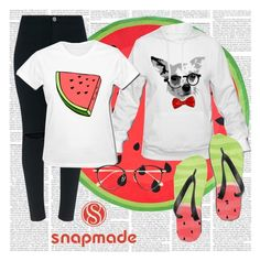 """""""Snapmade #1 Watermelons!"""" by fiona137 ❤ liked on Polyvore featuring Frency & Mercury"""