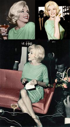 Marilyn Monroe in Mexico, 1962, wearing hear favorite dress — a pale green Emilio Pucci. Monroe was buried in this dress.
