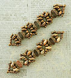 Linda's Crafty Inspirations: Bracelet of the Day: Sandra Silky Bracelet - Tarnished Bronze