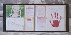 cute school time (or anytime) memories page -- a handprint, drawings, and handwritten notes