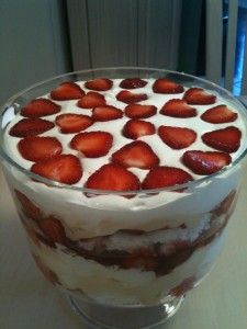 Family Size 20 Minute Strawberry Triffle | Quick Healthy Meals