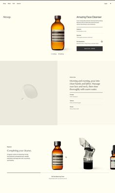 Aesop asked Work & Co to design, build, and ship a new e-commerce site. Working together, we created an immersive digital storefront inspired by the in-store experience. Website Design Inspiration, Beautiful Website Design, Website Design Layout, Web Layout, Cosmetic Web, Best Shopping Websites, Case Study Design, Minimal Web Design, Graphic Design