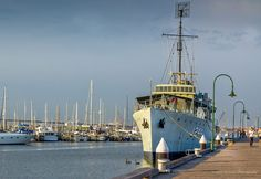 HMAS Castlemaine Canon Photography, Street Photography, Melbourne Street, Melbourne Australia, Sailing Ships, Paris Skyline, Gems, Boat, Travel