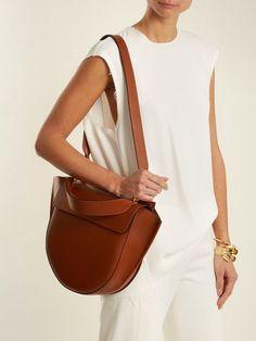 Wandler Hortensia trapeze leather shoulder bag #leathershoulderbag
