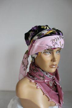No Slip Headbands, Muslim Hijab, Purple Scarves, Handmade Scarves, Chiffon Scarf, Cotton Scarf, Square Scarf, Turban, Head Wraps