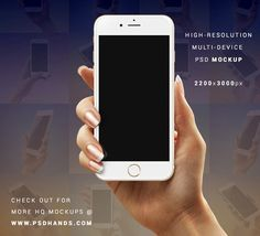 iPhone 6 PSD in hand Mockup  :: Download Free PSD Files