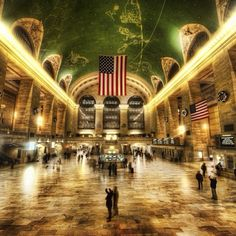 Grand Central Station was design with occult imagery. Cornelius Vanderbilt, who help finance the terminal was a spiritualist. The imagery you can find there include statues of Hermes, Athena, Hercules and the famous ceiling that features the images of the zodiac,
