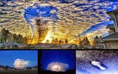 UFO - Nuvens estranhas capturadas ao longo do estado de Washington, British Columbia, Bulgária e México